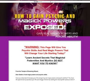 How To Get Psychic & Magical Powers - 3% Sales Conversion Rates!