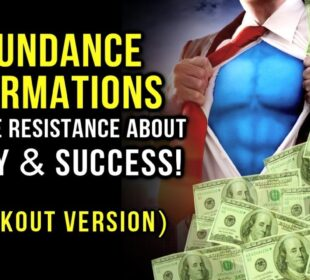 ABUNDANCE Affirmations - RELEASE Resistance About MONEY & SUCCESS! (Law Of Attraction) Workout Music