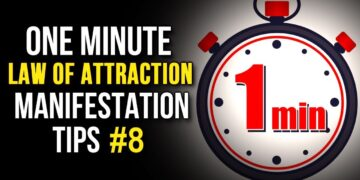 Law Of Attraction One Minute Manifestation Tips #8 - Your Youniverse Series | The Secret